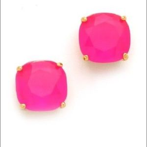 Kate Spade Hot Pink Square Stud Earrings
